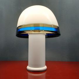 Mid-century murano glass table lamp Res De Majo Italy 1970s Handcrafted murano