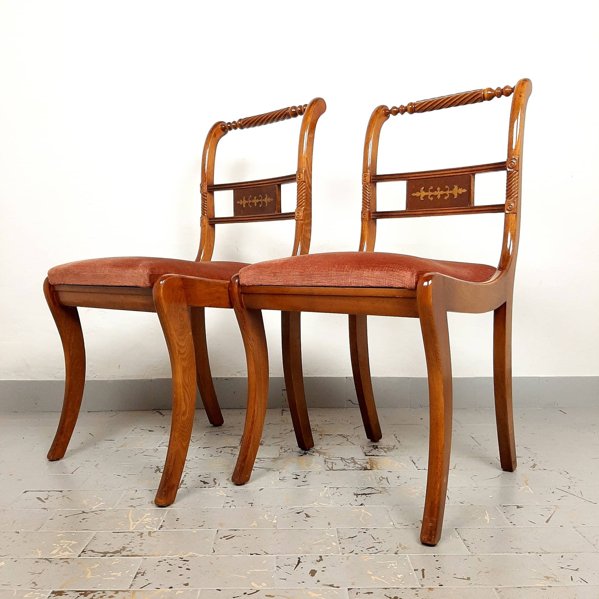 Pair dining chair Italy 60s