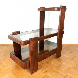 Mid-century wood coffee table Yugoslavia Meblo 1970s italian design