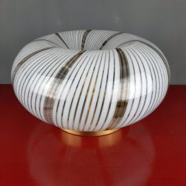 Mid-century swirl murano glass ceiling or wall lamp Italy 1970s Retro home decor