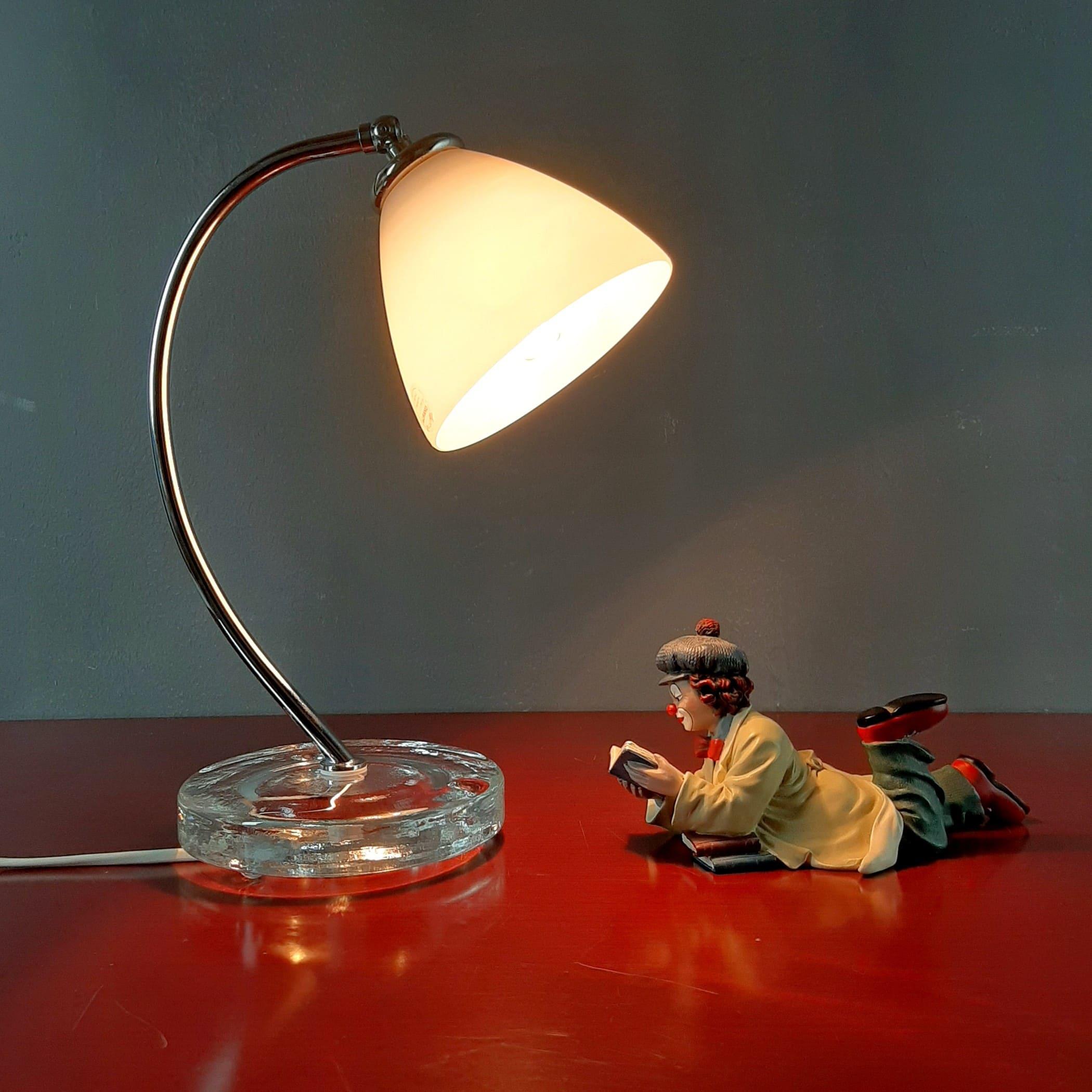 Retro murano glass table lamp Italy 1990s Night vetro murano lamp