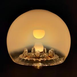 Large vintage murano glass pendant lamp by Mazzega Italy 1960s Mid-century lighting