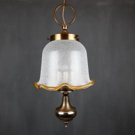 Vintage murano glass pendant lamp Italy 1980s