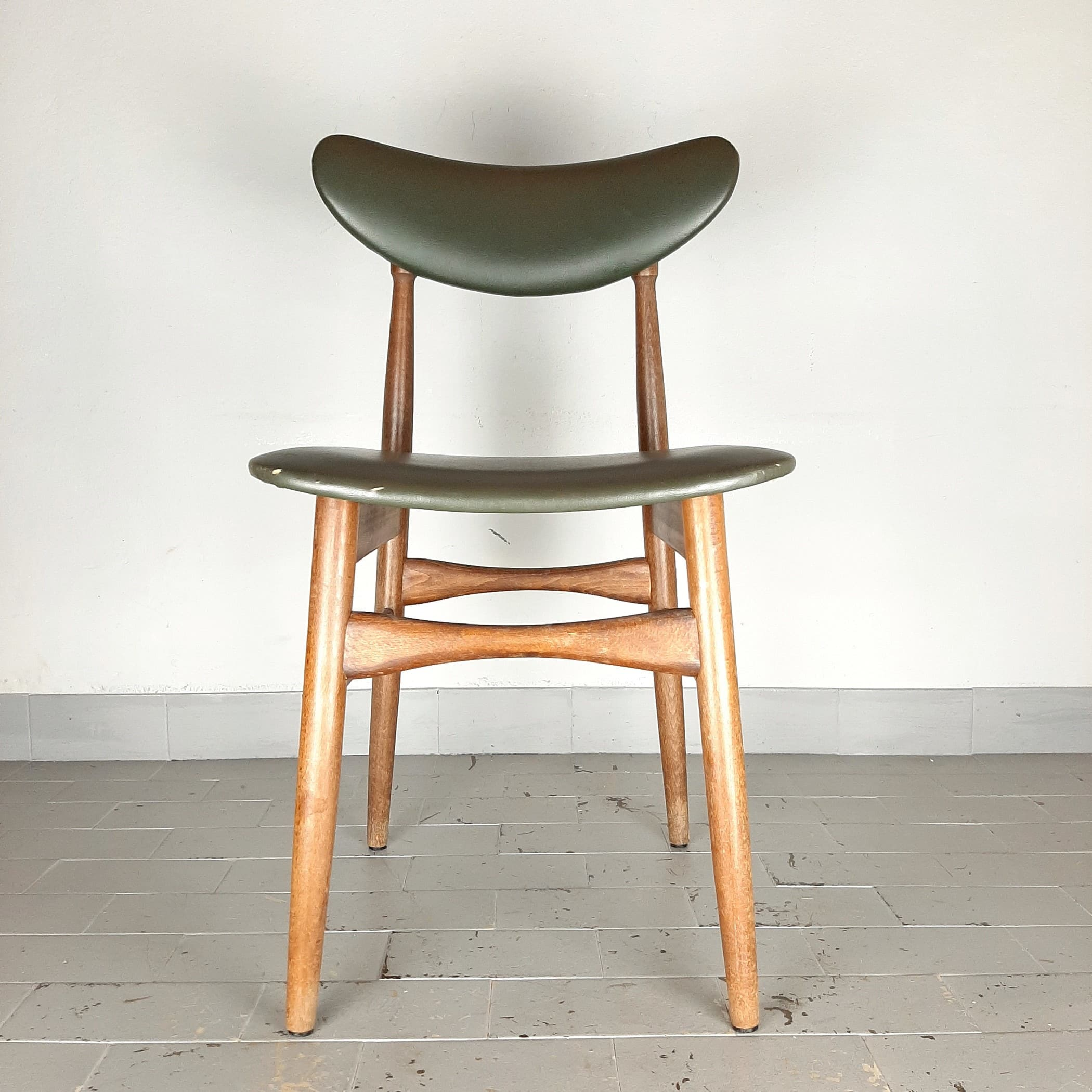 Mid-century dining chair Italy 1960s Retro Office Chair Scandinavian Style