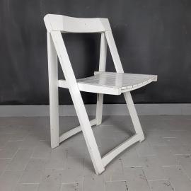 Mid-century wood folding chair mod. Trieste Yugoslavia 1970s style chair Aldo Jacober