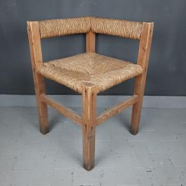 Vintage english corner chair Italy 1950s Farmhouse Cottage Decor