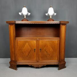 Vintage wood sideboard Italy 1950s Italian furniture living room cabinet commode