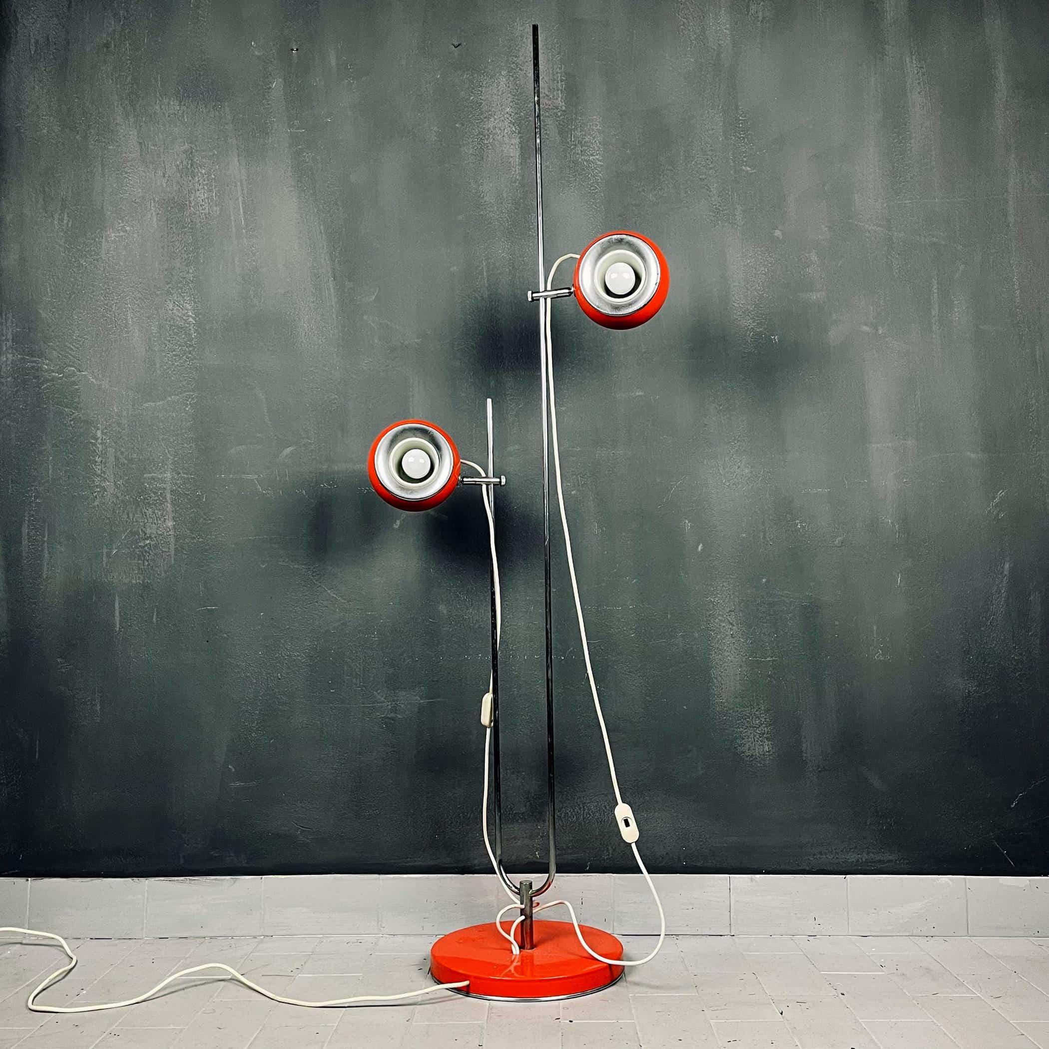 Mid-century eyeball floor lamp Italy 1960s Space age atomic