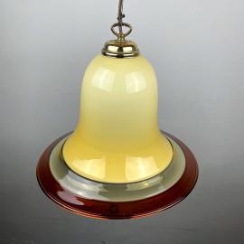 Vintage rare murano glass pendant lamp by Res Murano Vetreria de Majo Italy 1970s Handblown murano lamp