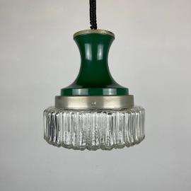 Mid-century green pendant lamp Italy 1970s