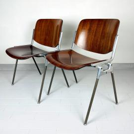 1 of 2 Mid-century Chair DSC 106 by Giancarlo Piretti for Castelli Italy 1960s