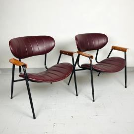 Pair of vintage armchair by Gastone Rinaldi for Rima (Padua) Italy 1950s