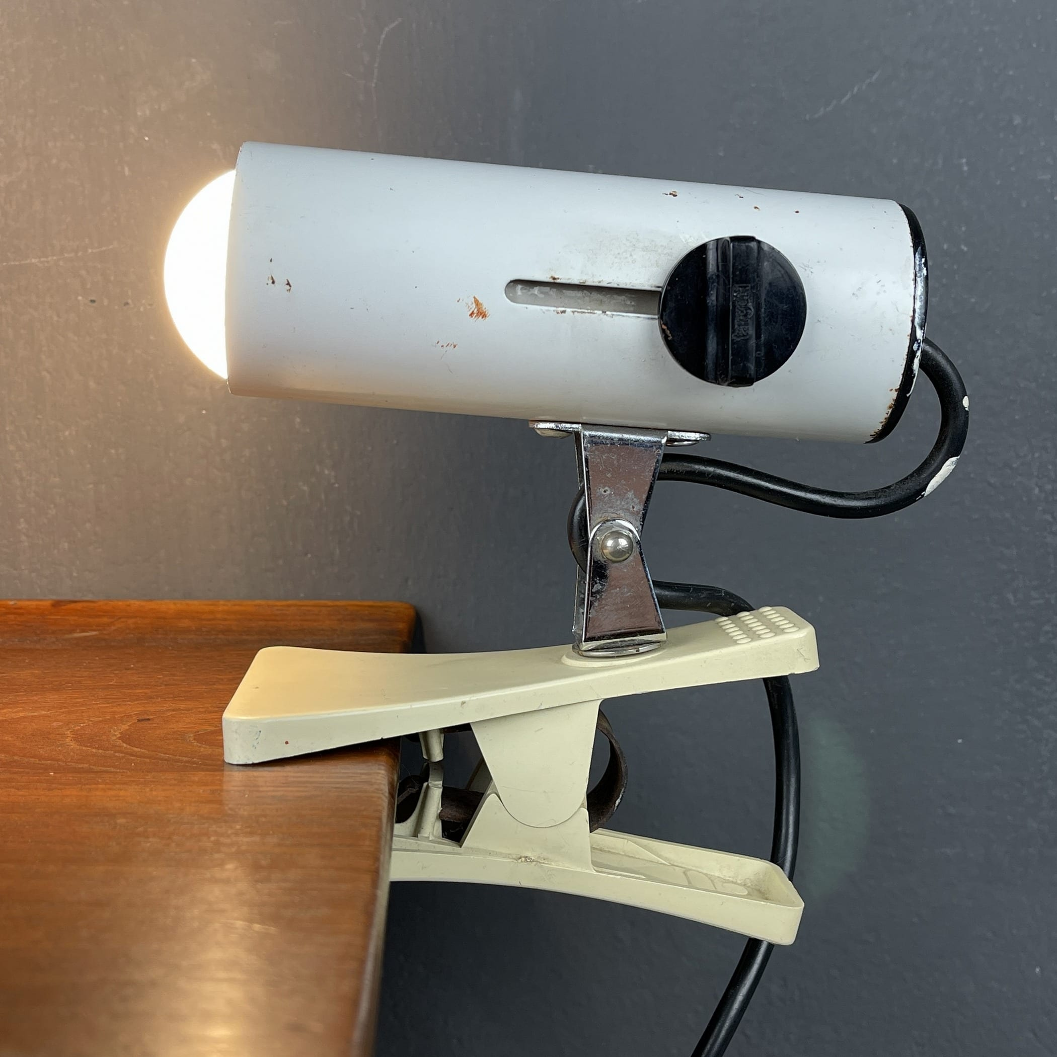 Mid-century clamp lamp by Targetti Italy 1960s space age industrial