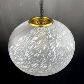 Vintage swirled murano glass pendant lamp Italy 1970s