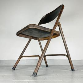 Vintage metal folding chair Italy 1960s