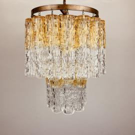 Murano glass chandelier Tronchi by Venini Italy 1960s