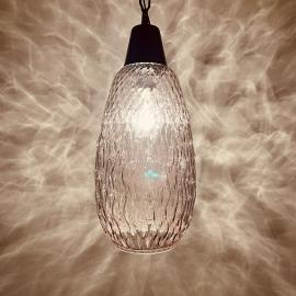 Murano glass pendant lamp Italy 1970s Murano chandelier Mid-century light tinted glass