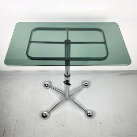 Mid-cenury coffee table by Allegri Arredamenti Parma Italy 1970s Vintage bar space age trolley