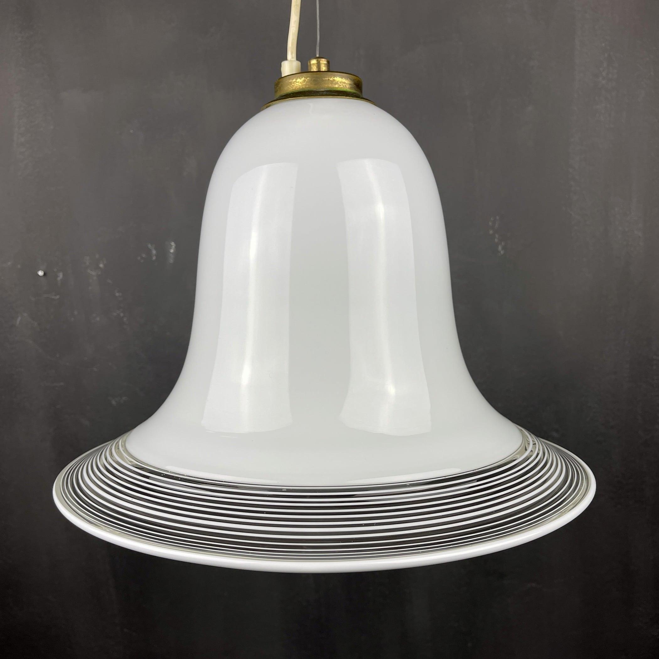 Vintage white murano chandelier Italy 1970s mid-century italian murano light