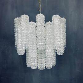 Mid-century murano glass chandelier Tronchi by Toni Zuccheri for Venini Italy 1960s