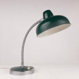 Mid-century green desk lamp Italy 1960s Vintage gooseneck lamp