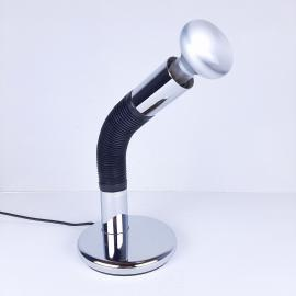 Mid-century desk table lamp model Elbow designer E. Bellini for Targetti Sankey Italy 1970s Space Age Retro lighting