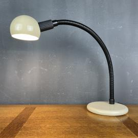 Retro beige desk lamp Italy 1980s Goose table lamp