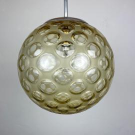 Mid-century sphere ball pendant lamp Italy 1960s Sputnik space age atomic