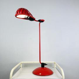 Mid-century red desk lamp IGLOO by Tommaso Cimini for Lumina Italy 1980s