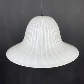 Vintage murano hanging lamp Tulip Italy 1970s Italian mid-century lighting Retro home decor