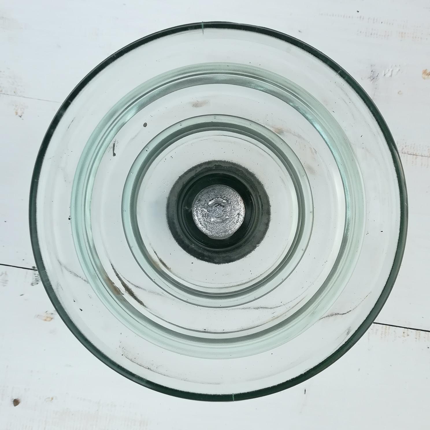 Glass electrical insulator