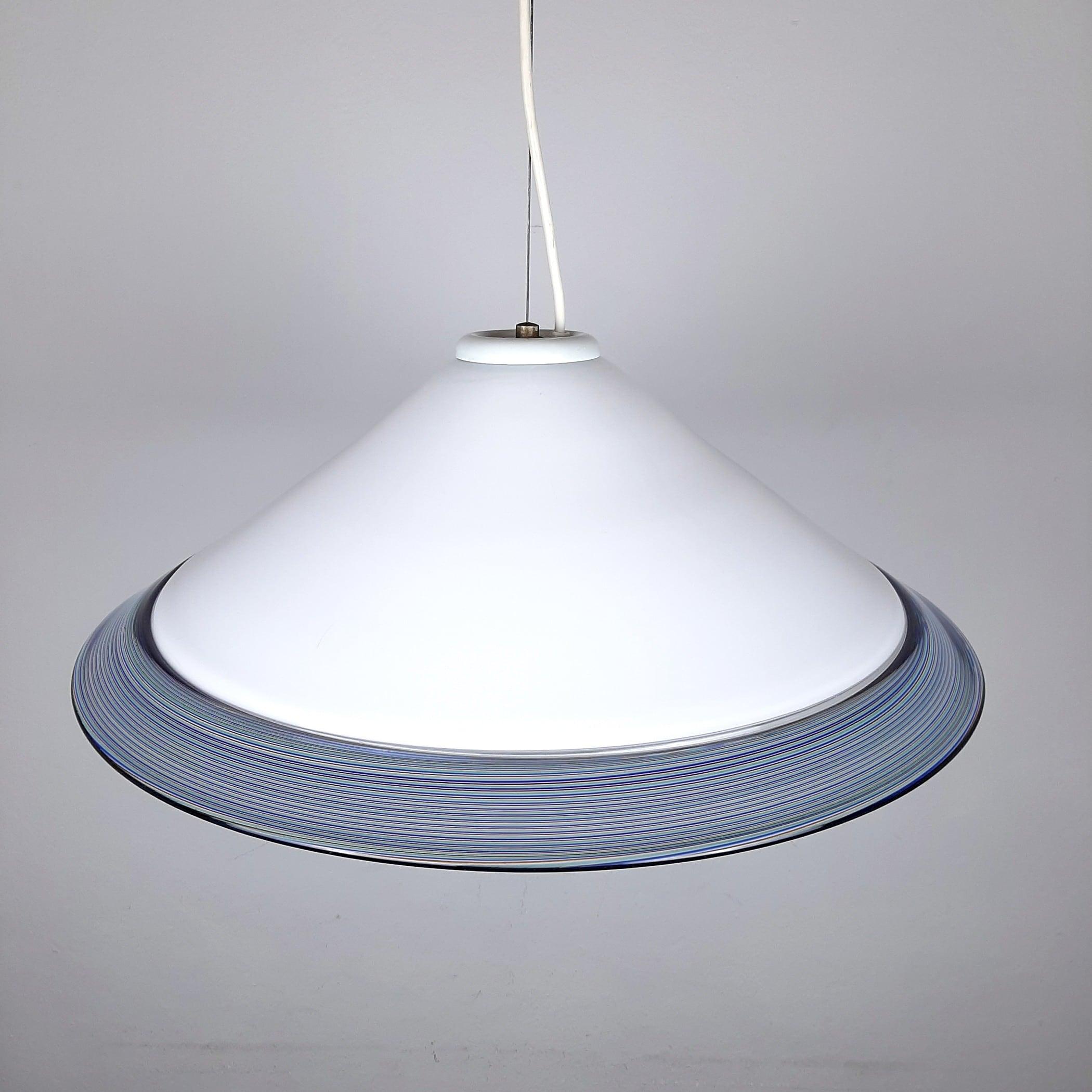 Mid-century murano glass pendant lamp Italy 1970s Retro chandelier