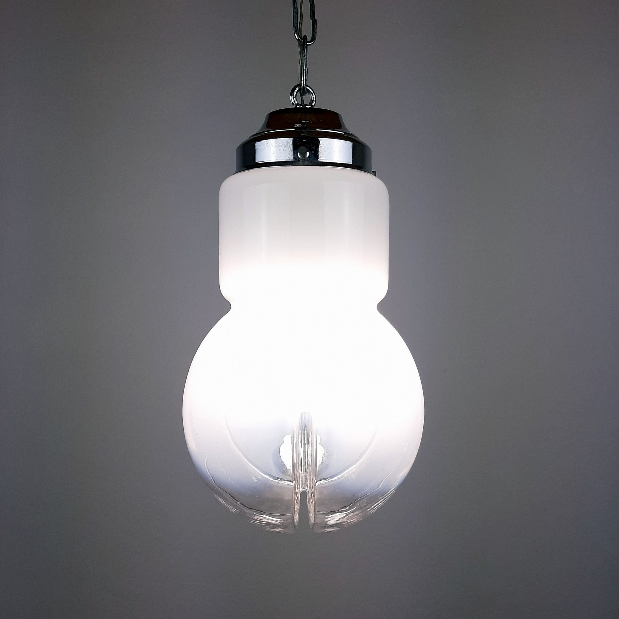 Mid-century murano glass pendant lamp Mazzega Italy 1970s Retro lighting Retro home decor Space age