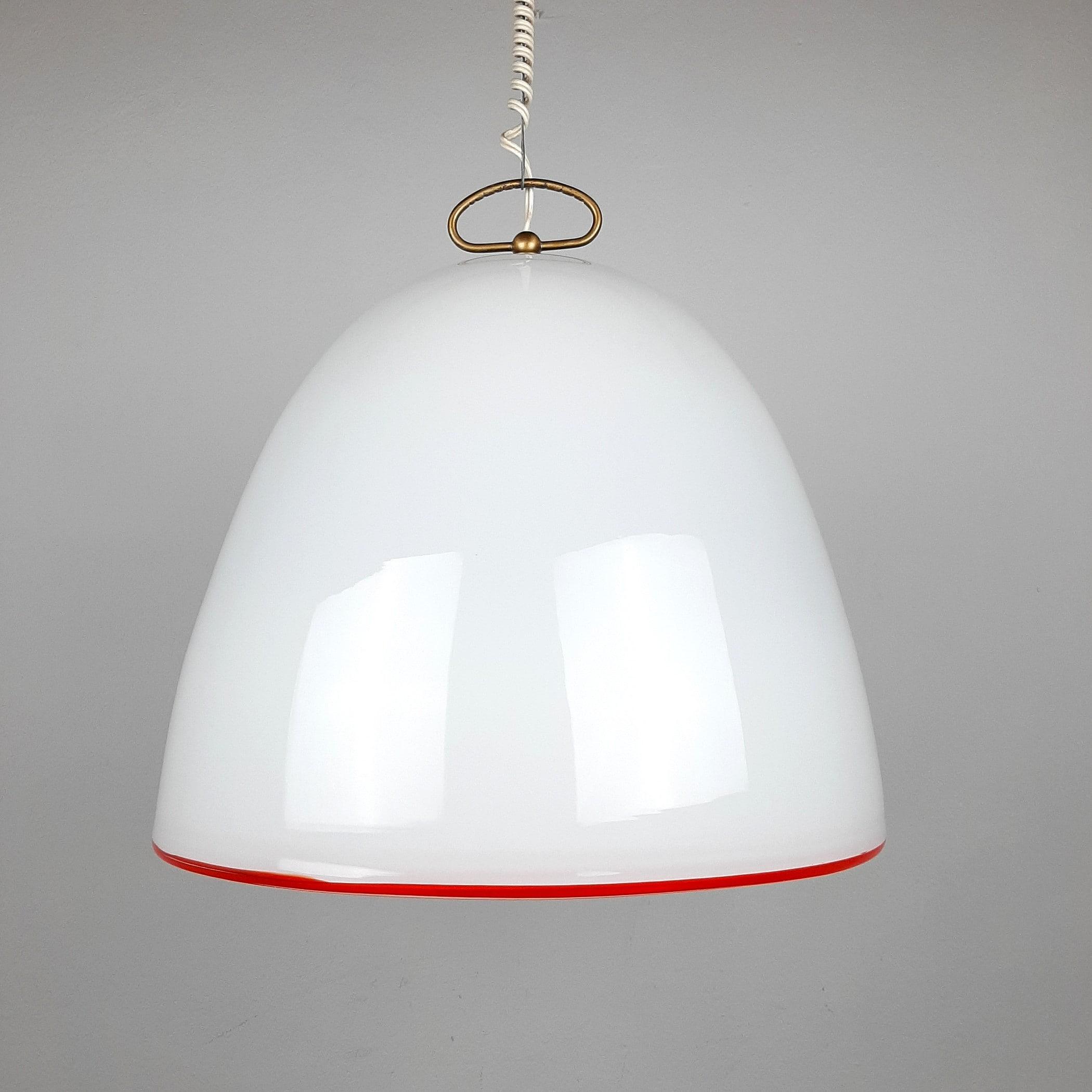 Retro murano glass XL pendant lamp by Renato Toso for Leucos Italy 1960s Mid-century home decor