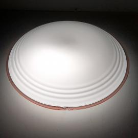 Mid-century murano glass ceiling or wall lamp Ronda Italy 1970s Retro italian design lighting UFO Space age