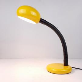 Retro yellow desk lamp Italy 1980s Goose table lamp