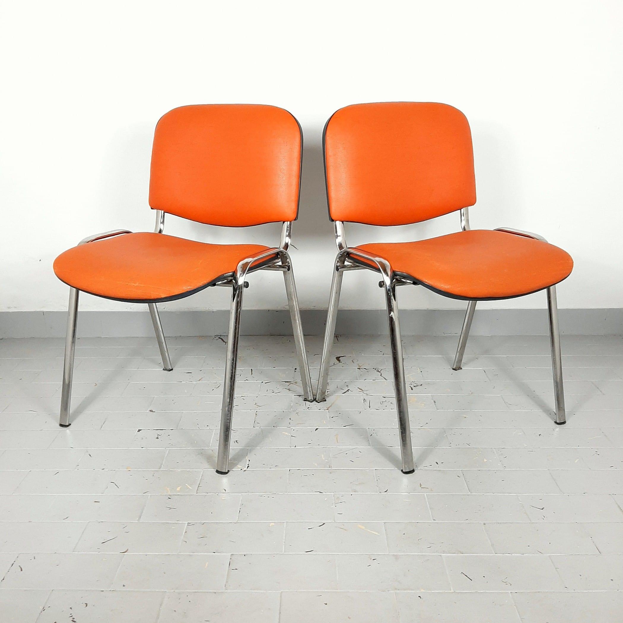 Retro office chair Yugoslavia '80s Orange desk chair