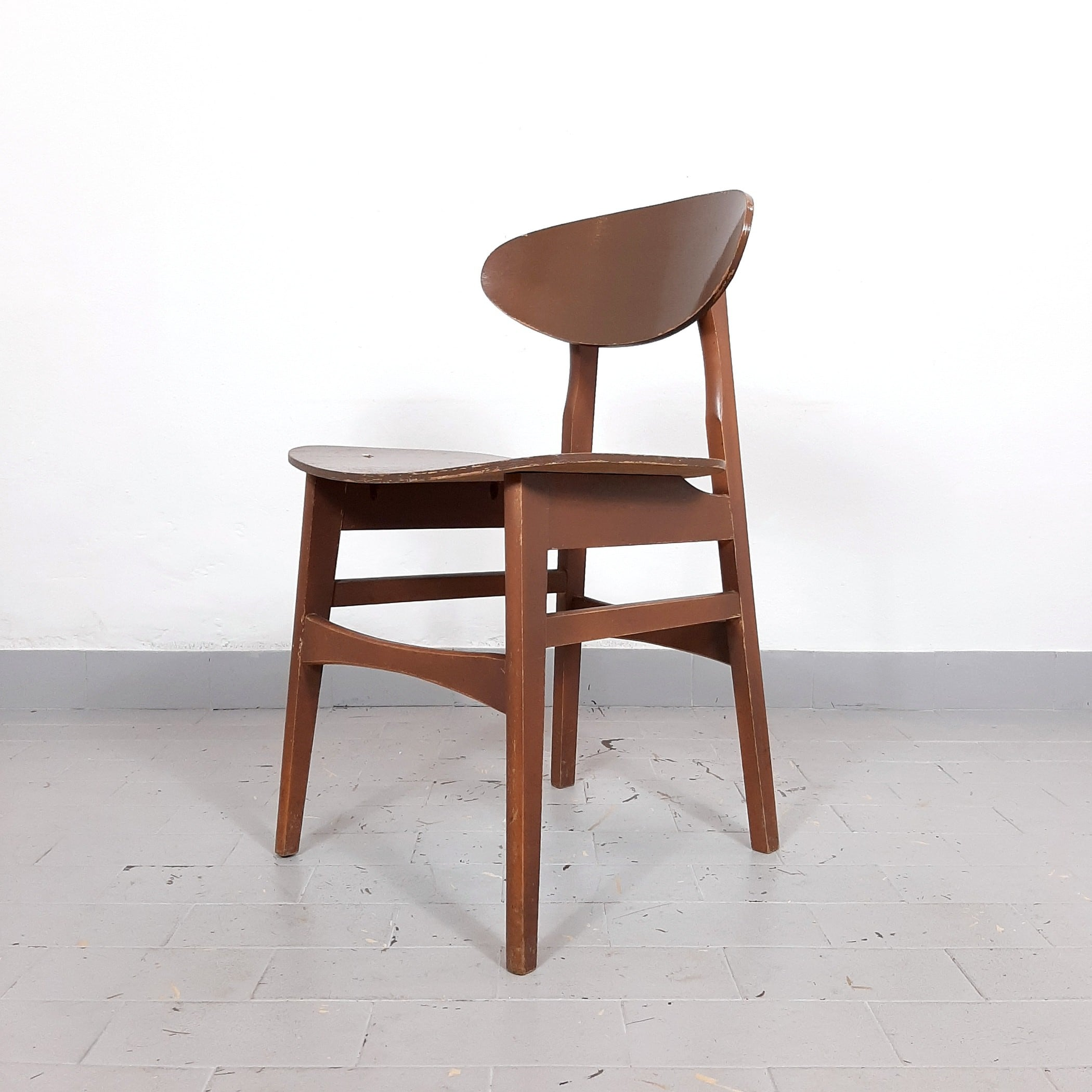 1 of 20 Retro dining chair from '60s Yugoslavia Wood office chair Home office Mid-century wood chair