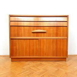 Mid-century retro wood chest of drawers 60s Modern Scandinavian Style Vintage