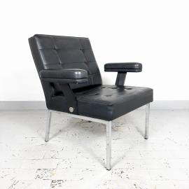 Mid-century lounge chair Austria 80s black retro chair scandinavian style