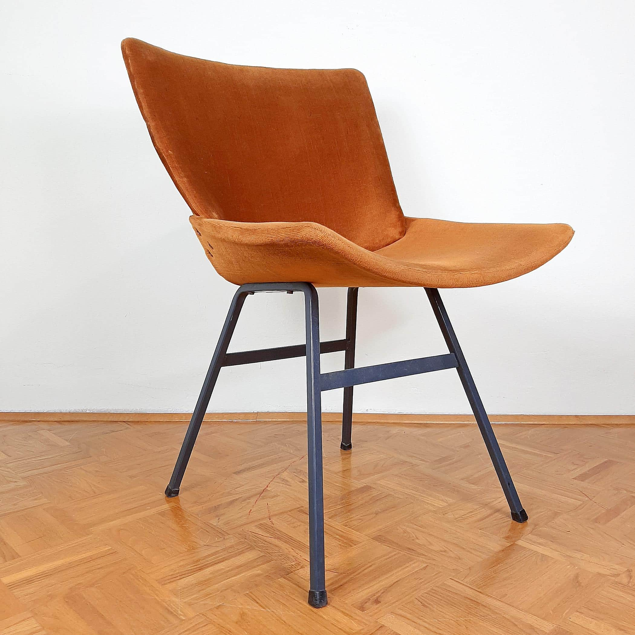 Mid-century Original Vintage Chair Lupina From Niko Kralj For Stol Kamnik 1960s Retro Lounge Chair Office Chair Ginger