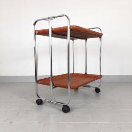 Retro Mid Century Serving Bar Cart Italy 1970s Vintage Serving Bar Trolley, Modern, folding serving trolley