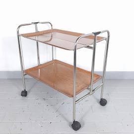 Mid-century folding serving trolley Yugoslavia '60s Modern Serving Trolley Retro bar cart