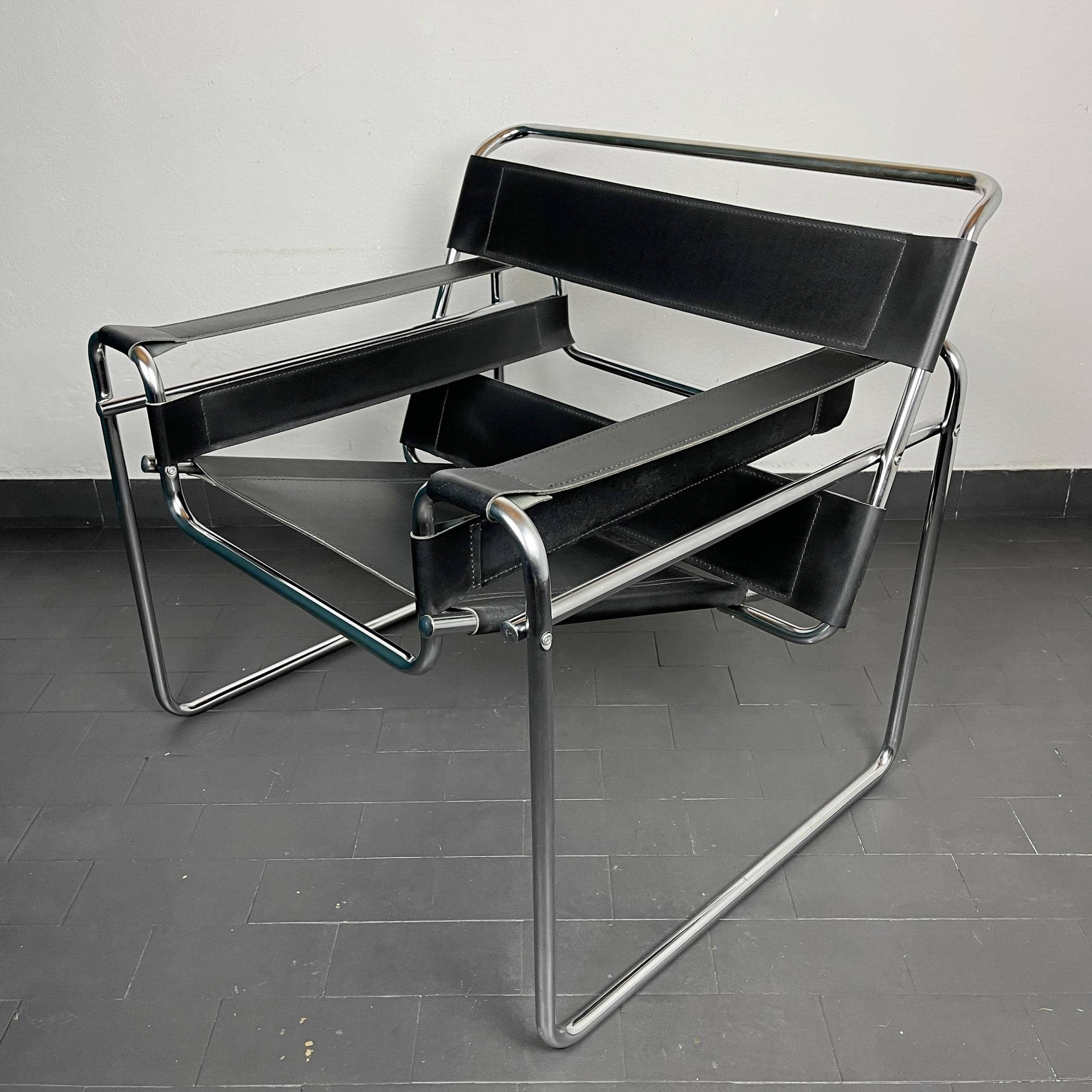 Wassily chair by Marcel Breuer Model B3 Chair Italy 1980s Iconic Bauhaus Design