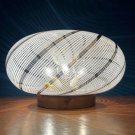 Mid-century swirl murano glass ceiling or wall lamp Italy 1970s