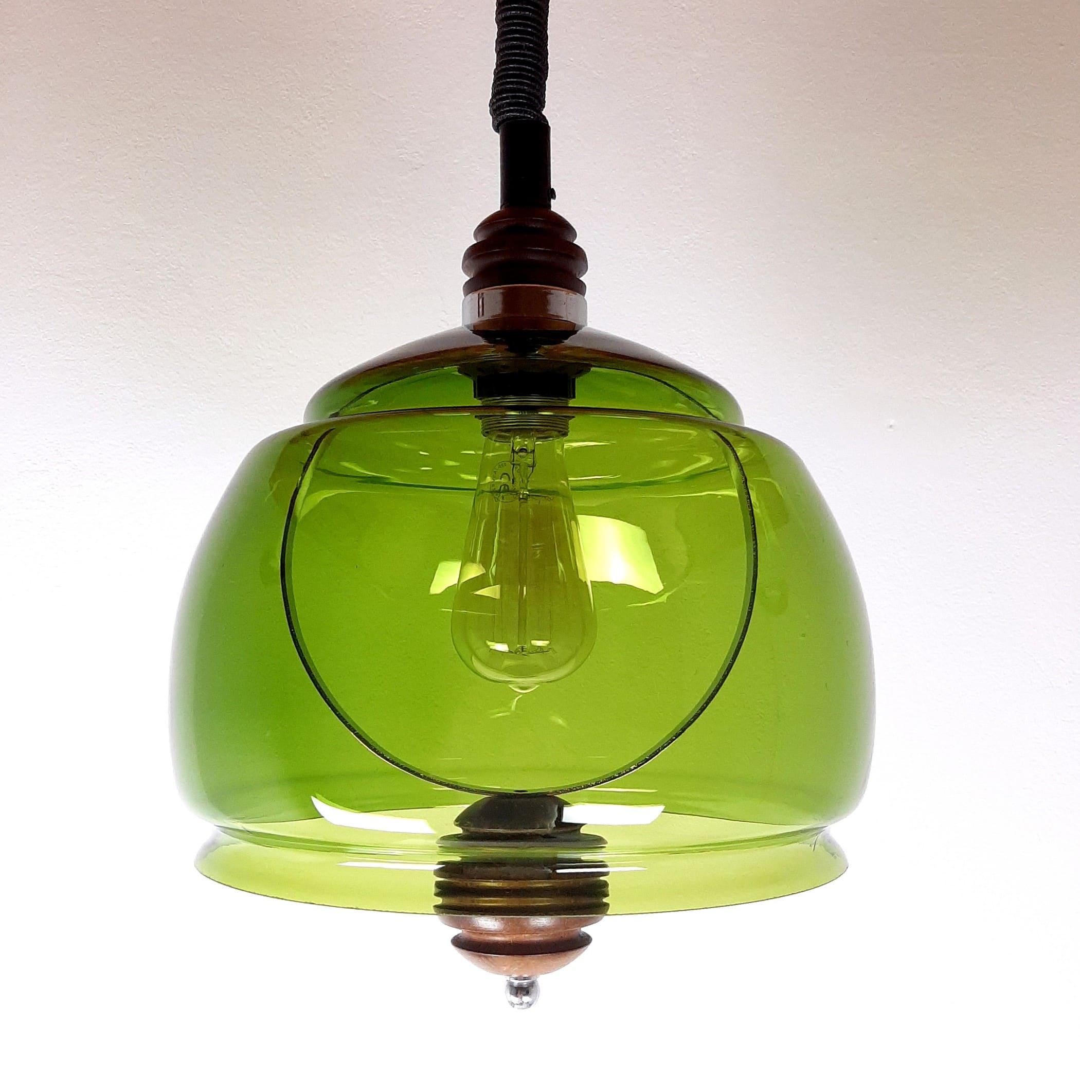 Rare mid-century pendant lamp Sijaj Hrastnik Yugoslavia '60s Vintage lighting Retro home decor Farmhouse Cottage Rustic