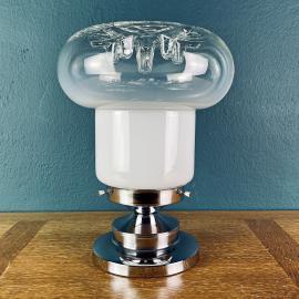 Mid-century murano glass table lamp by Toni Zuccheri for Mazzega Italy 70s Mid-century lighting