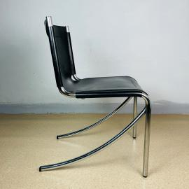 Mid-century black chair JOT by Giotto Stoppino for Acerbis Italy 1970s
