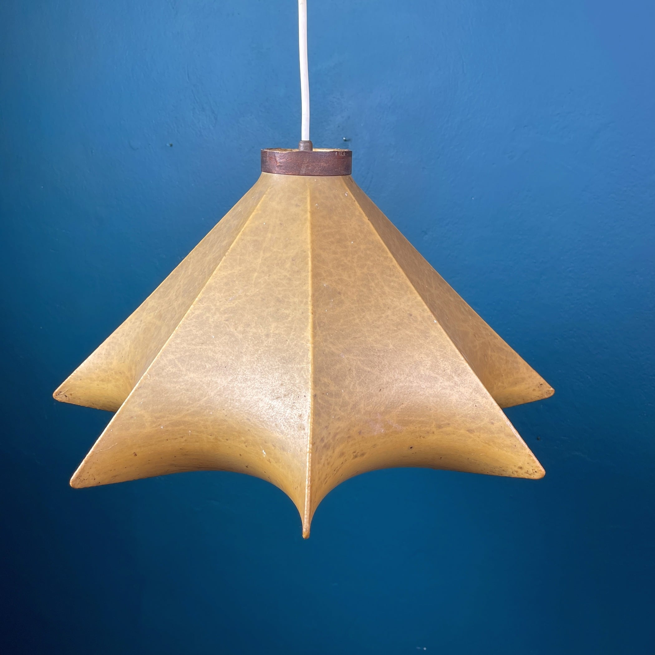 Mid-century pendant lamp COCOON by Achille Castiglioni for Flos Italy 1960s Vintage Space Age Italian Cocoon lamp