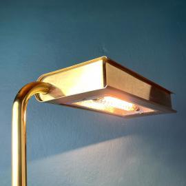 Rare brass floor lamp Egoluce Italy 1980s Vintage italian brass lamp Mid-century modern lighting